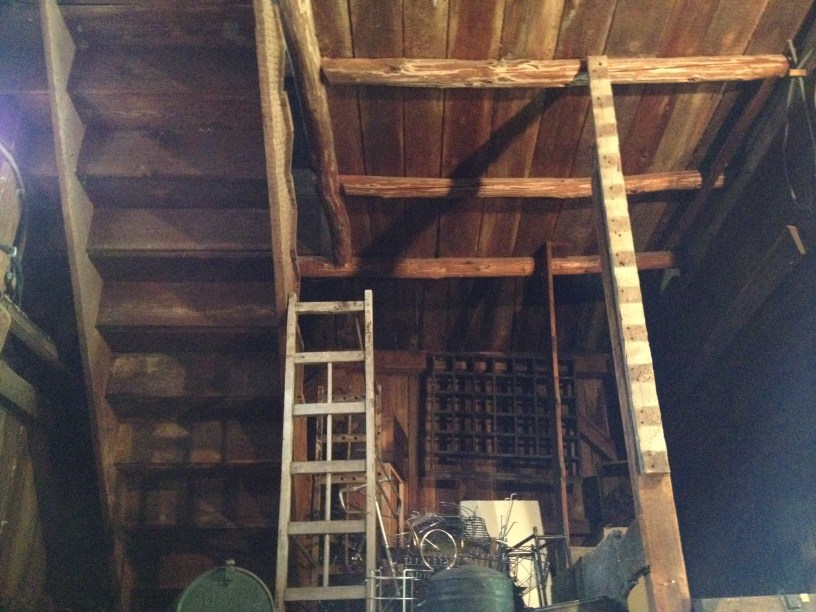 I like picking, Charles likes old barns. This one was built in 1750.