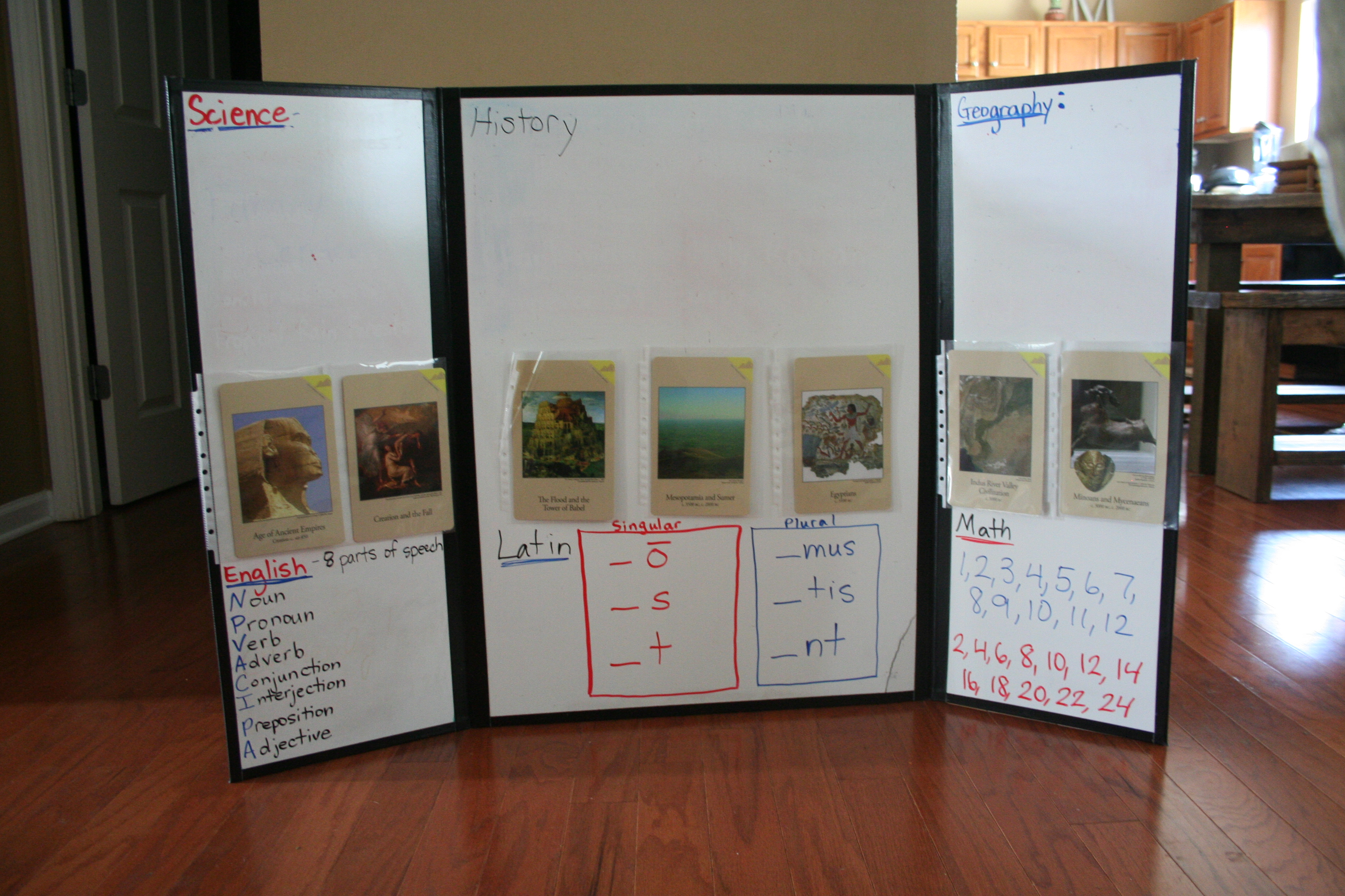 Suzanne Shares  CC Tutor Resource DIY TriFold Dry Erase