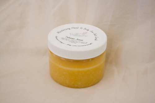 Suzanne's Soaps LLC Tahitian Sunset shower scrub and body polish sea salt