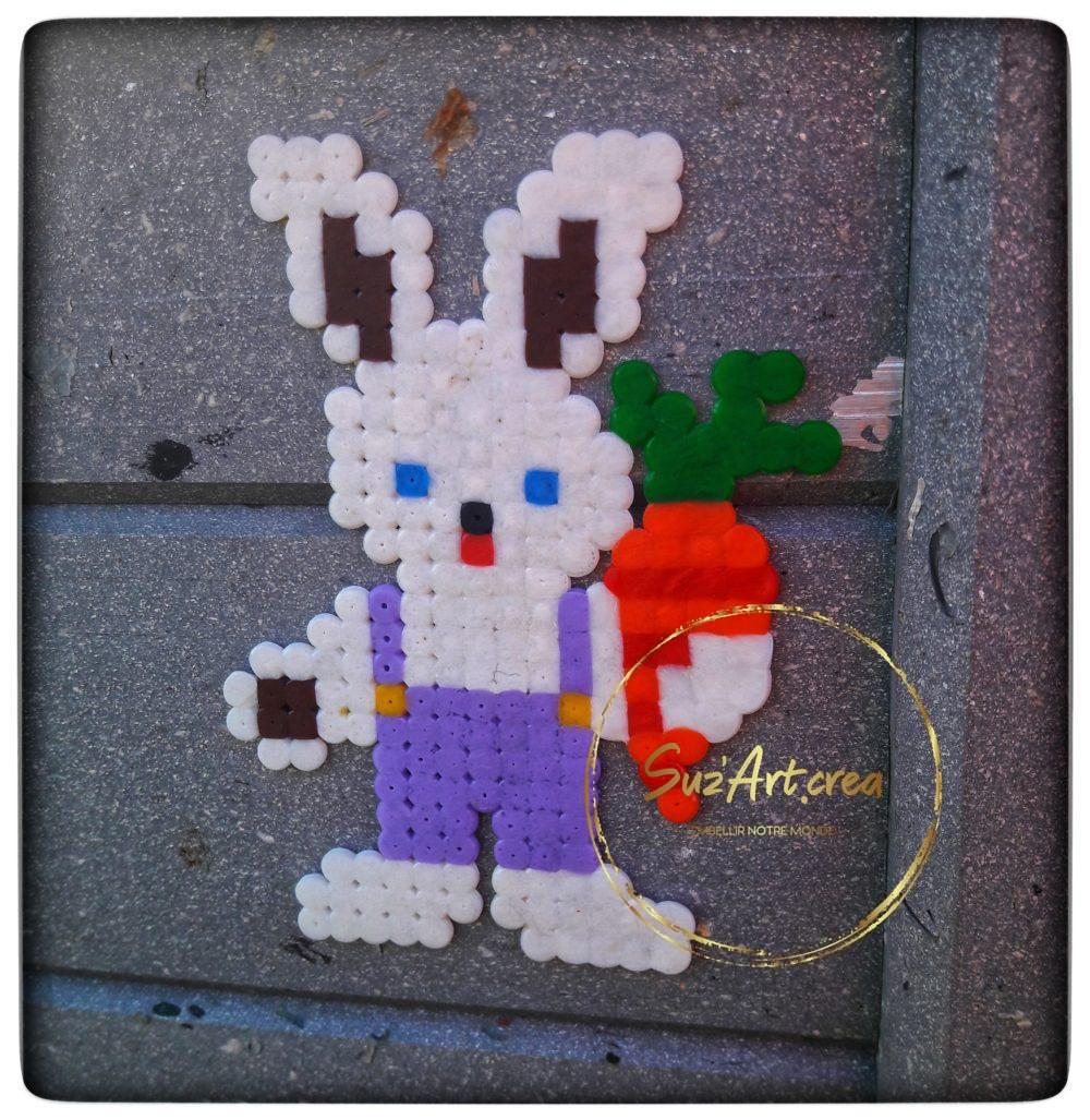 Lapin Street Art en perles à souder, bords de Maine Angers
