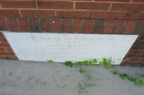 Lenoir City post office cornerstone