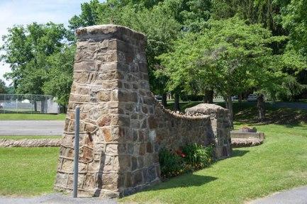 Half of the rock entrance gate
