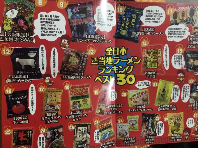 やかん亭作成のご当地ラーメンランキング30