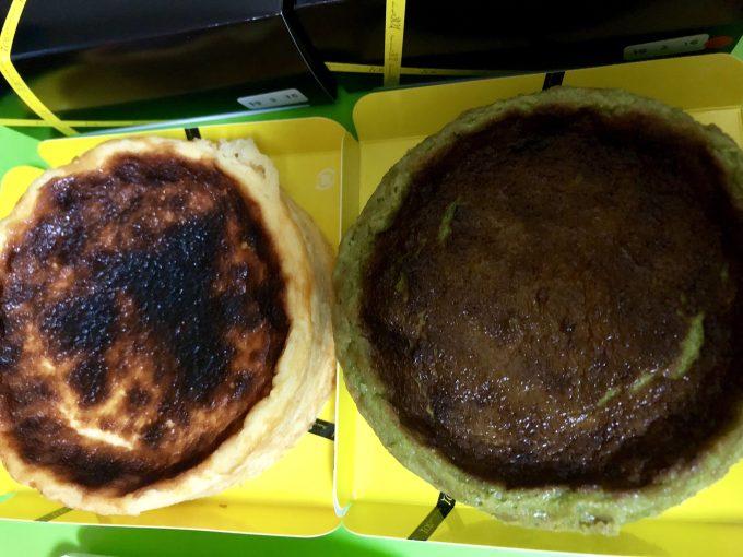 301のバスクチーズケーキ抹茶とノーマル比較j