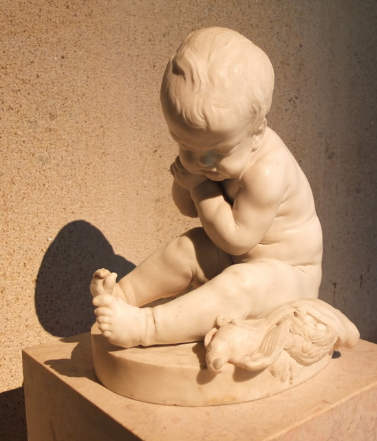 Statue of a child, by Pigalle, France, before 1779.
