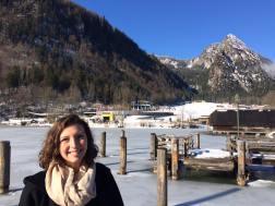 Lake Konigssee frozen over