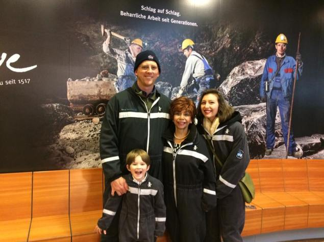 All suited up for the salt mine tour