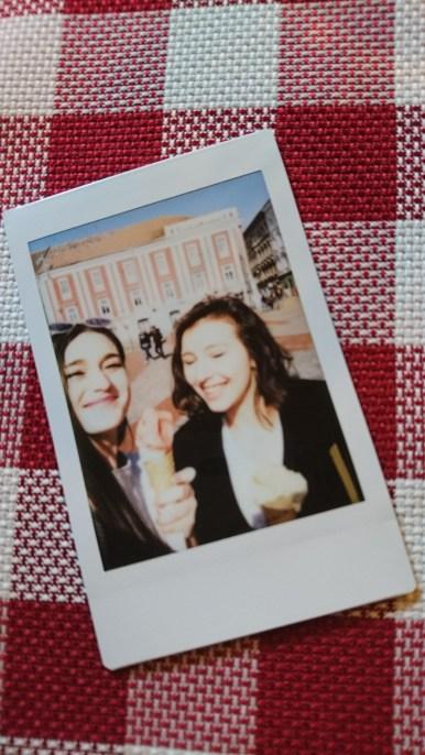 Polaroid of our gelato in Piata Libertatii