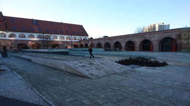 Ruins of the city wall turned into a museum