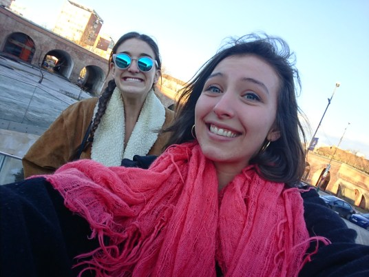 Me and maddie in Piata Unirii