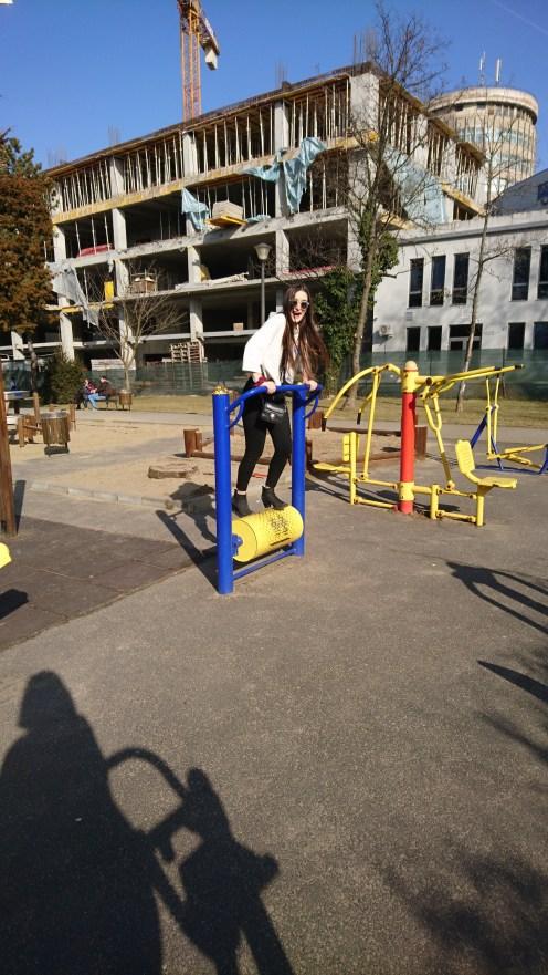 Playing in Carmen Sylva Park