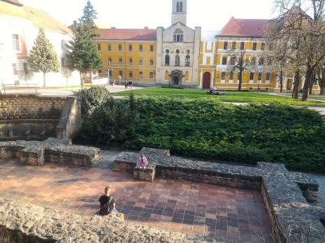 Roman ruins in Pécs