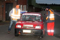 Being greeted at the end of SS7, back out against the odds. Thanks marshals! Courtesy of M&H Photography