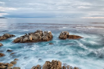 California coastal rocks pebble beach