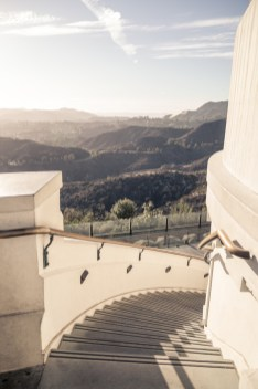 Griffith Observatory staircase to the west