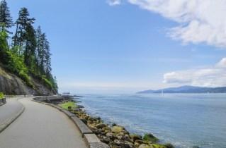 Stanley Park sea wall British Columbia
