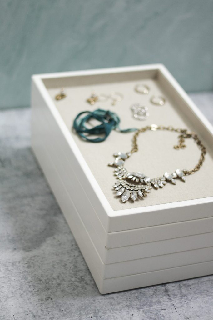 Stacked Jewelry Storage Trays