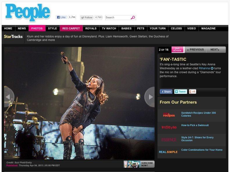 Rihanna in People Magazine