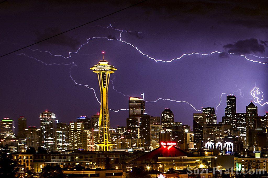 Seattle Thunder and Lightning Storm Photography by Suzi Pratt