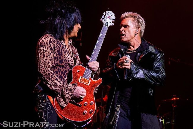 Billy Idol concert photography in Seattle