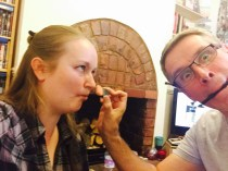 I convinced The Bloke to do my make-up