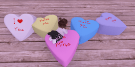 Heart poofs