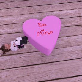 Be mine heart poof