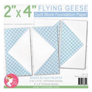 """2"""" x 4"""" Flying Geese Foundation Paper ISE-776"""