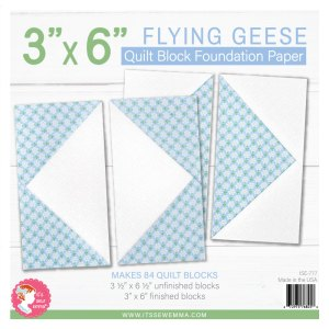 """3"""" x 6"""" Flying Geese Foundation Paper ISE-777"""