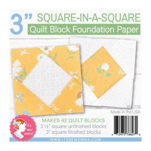 """3"""" Square In Square Foundation Paper ISE-779"""