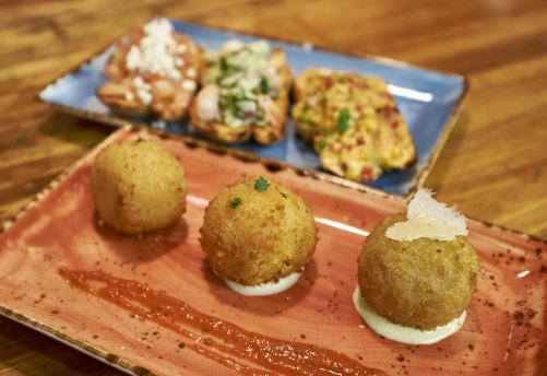 Arancini and Bruschetta at Food Tales Ormond