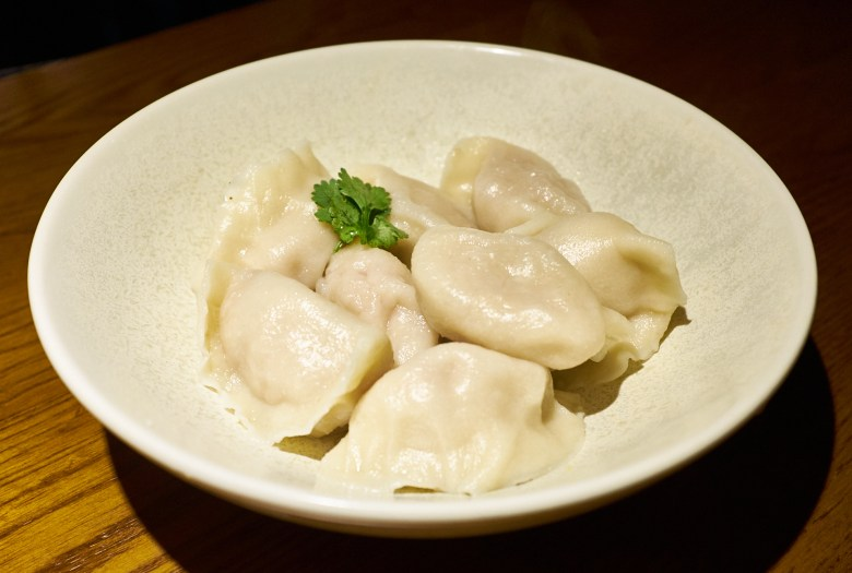Wombok and pork dumplings, Le Charme Melbourne