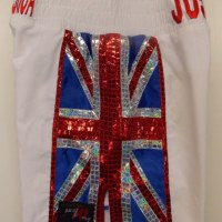 Anthony Joshua Boxing Shorts White