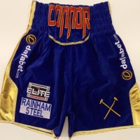 Kevin Mitchell Blue Velvet Boxing Shorts