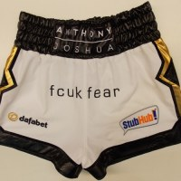 Anthony Joshua White Boxing Shorts Newcastle