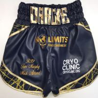 Mens Leather Boxing Shorts - Willis