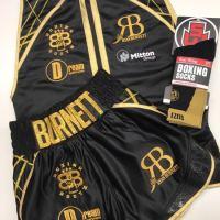 Ryan Burnett Boxing Trunks - Black and Gold