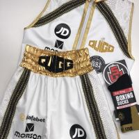 Scott Quigg White Boxing Shorts & Ring Jacket