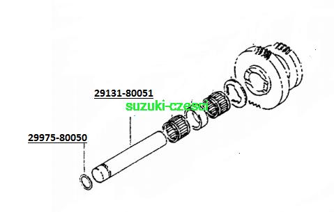 Wałek reduktora Samurai suzuki-częsci