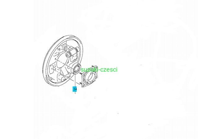 Uszczelniacz tylnej półosi Grand Vitara 98-2005 zewnętrzny