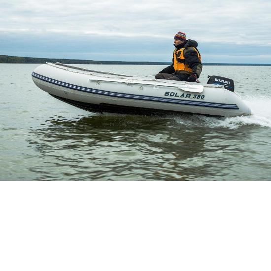Лодка надувная Солар-380 (Серый) Image