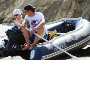Лодка надувная Солар-380 JET (синий) Image