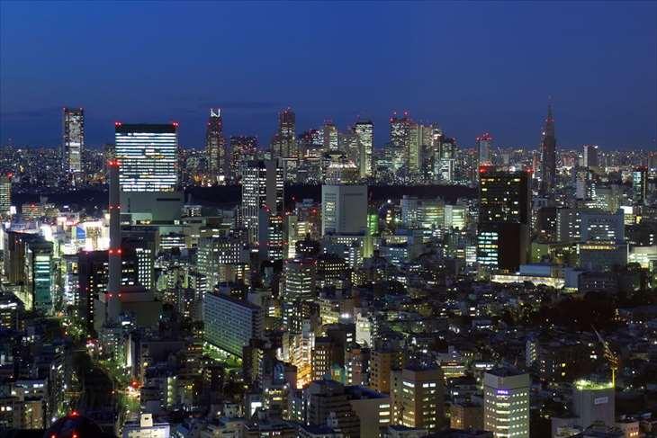 恵比寿ガーデンプレイスタワーからの夜景
