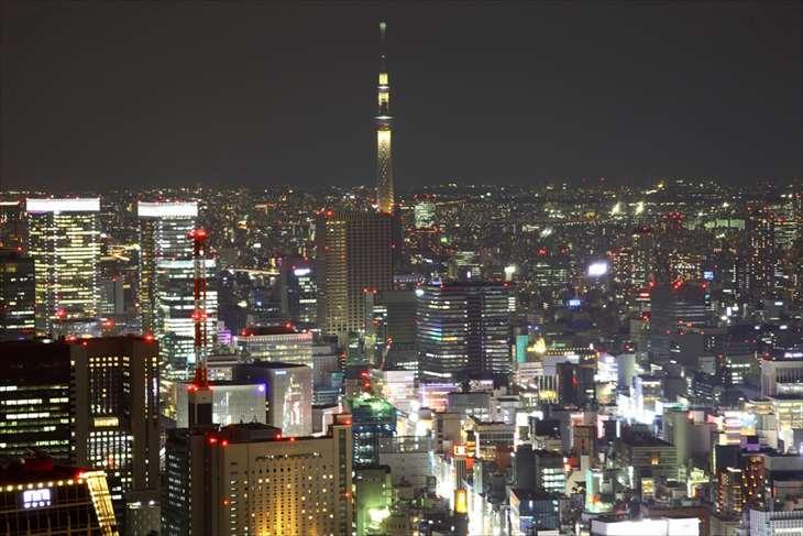 東京タワー トップデッキからの夜景
