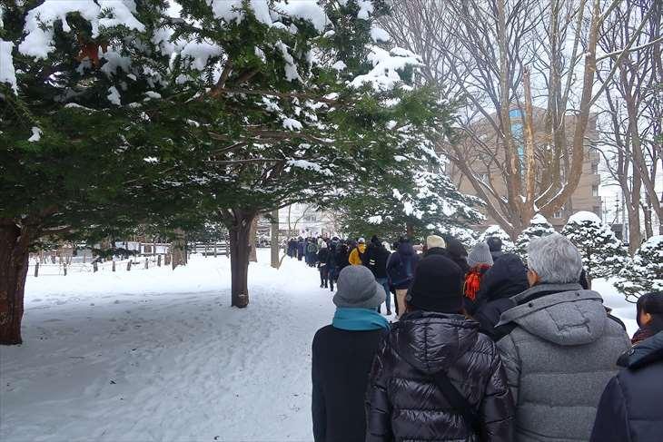 北海道神宮 初詣の様子