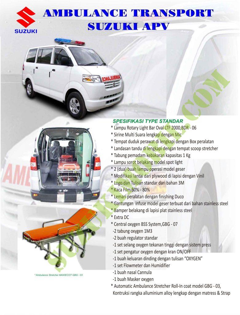 suzuki apv ambulance standar