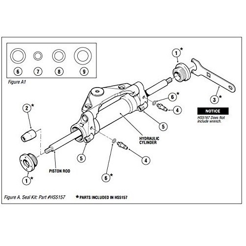 SeaStar HS5167 Seal Kit HC5340 Front Mount Cylinders W/O