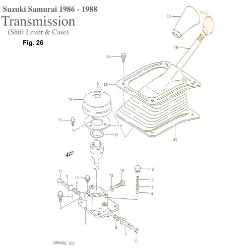 Transmission Shifter Case / Select Return Springs (OEM
