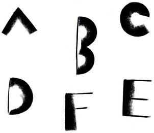 アルファベットABCDEF_鈴木さや香文字