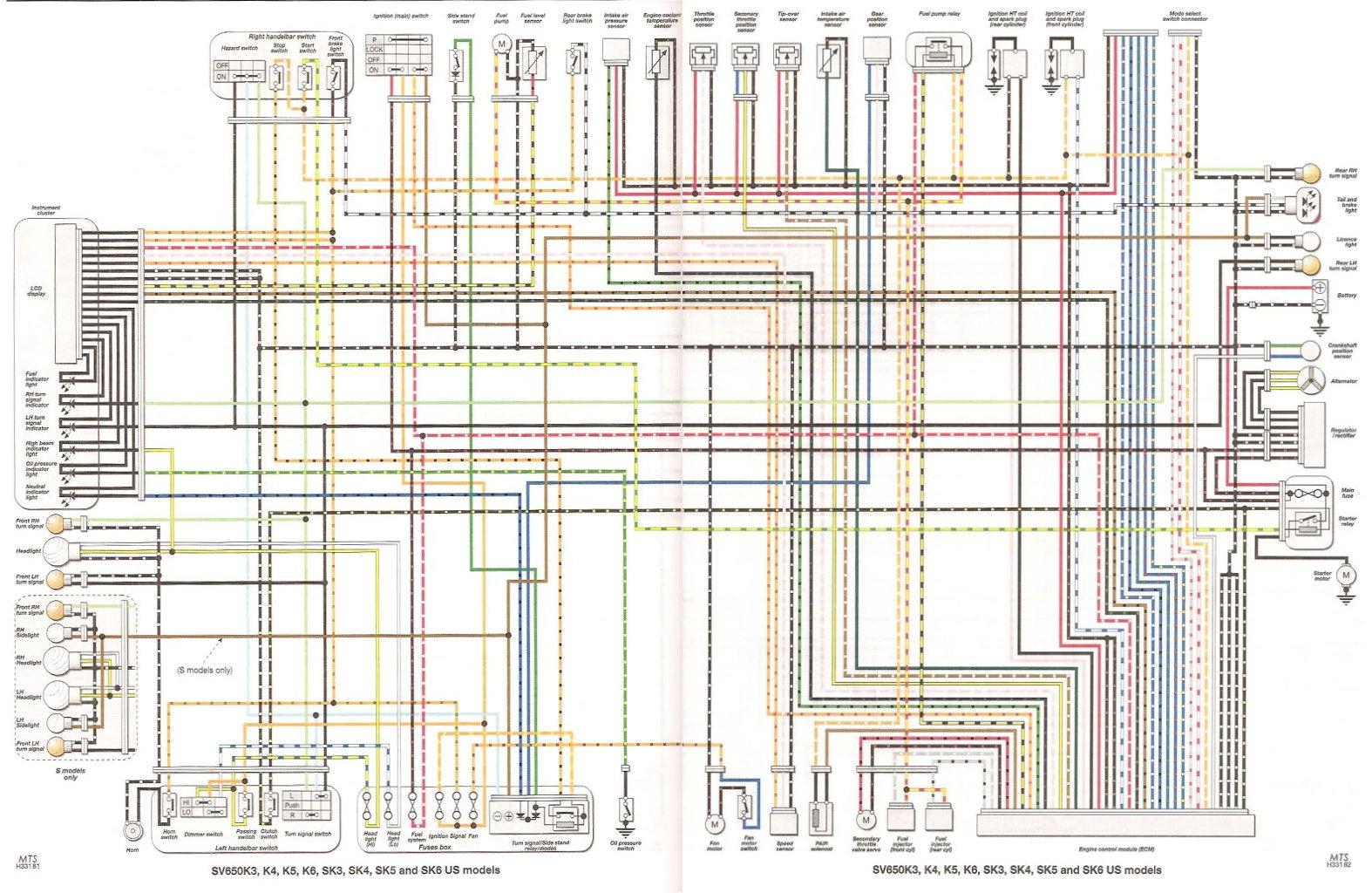 2006 sv650 wiring diagram 2003 toyota corolla headlight abs lampe lyser og maskinen vil ikke starte... (sv650n - 07)